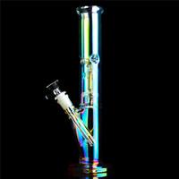 ingrosso bocciolatore di ghiaccio bongs-Bong dritto di vetro BIG dritto tubo di vetro tubo di acqua Bong con denso raccoglitore di ghiaccio freddo narghilè diffusore downstem percolator