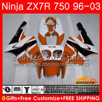 Wholesale kawasaki zx7r orange for sale - Group buy Bodys For KAWASAKI NINJA ZX R ZX ZX750 ZX R ZX NO orange black ZX R ZX7R Fairing