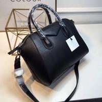 mini dizüstü bilgisayar markaları toptan satış-Sıcak Antigona mini tote çanta ünlü markalar omuz çantaları gerçek deri çanta moda crossbody çanta kadın iş laptop çantaları 2018 çanta