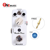 Wholesale mooer pedals free shipping for sale - Group buy Mooer Hustle Drive Distortion Pedal Ultra wide dynamic range and extraordinary open tube Full metal shell True bypass MU0330