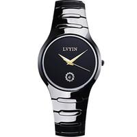 водонепроницаемые часы оптовых-роскошные женщины мужчины наручные часы керамические женщина мужские часы lvyin Марка женские мужские часы 200 м водонепроницаемый плавать кварцевые мужские часы