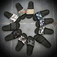 ingrosso uomini donne coppia sandali-2019 Pantofole firmate Hottest Couple Europa e America Pantofole Scuff multicolor Uomo Donna Beach Pantofole sandali antiscivolo Trend