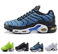 jóias online venda por atacado-Plus Esportes Double Branding Running Shoes, homens um impresso e uma jóia, TN PLUS PRM sapatos, tênis de treinamento de marca on-line preto mens on-line