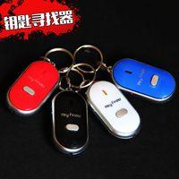 Wholesale led flash whistles resale online - Key Finder LED Anti Lost Sensor Alarm Keys Chain Whistle Locator Find Alarm Tracker Flashing Beeping Remote Keyring