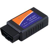 лучший диагностический инструмент для peugeot оптовых-Лучший Selle автомобиля обнаружения неисправностей универсальный ELM327 Wifi сканер автоматический OBD2 диагностический инструмент ELM 327 WIFI OBDII сканер V 1.5 wirele
