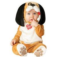 bebek oğlan maymun setleri toptan satış-Bebek Noel Cadılar Bayramı Cosplay Kostüm Maymun aslan köpek Tulum Erkek Kız Giysileri Set Çocuk Kıyafetleri