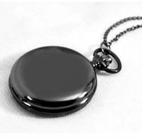 Wholesale black led fashion watches for sale - Group buy New supply lead black glossy pocket watch fashion men and women hot pocket watch creative retro jewelry watch