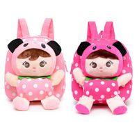 детские рюкзаки оптовых-Cute Baby Girls Doll Backpack Cartoon Toddler Plush Backpack Schoolbag Nursery Rucksack