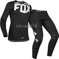 Wholesale gears set resale online - 2019 DELICATE FOX MX Kila Jersey Pants Motocross Dirt bike MTB ATV Adult Racing Gear Set Black