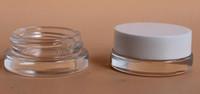 schwarze glasgläser kosmetik großhandel-5ml Glasbehälter Glasbehälter 5g Benutzerdefiniertes Logo klares Wachs Tupfebehälter Mini kleines Kosmetikglas mit schwarzem Weißgolddeckel 2019 am besten heiß