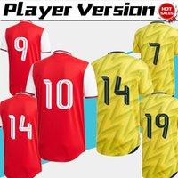 ingrosso coppa di lega calcio-Versione giocatore Europa League 2020 Gunner home maglia da calcio rossa 19/20 Cup carattere via giallo maglia da calcio divise da calcio personalizzate