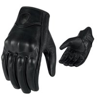 Wholesale gloves motorcycle leather glove resale online - Retro Pursuit Perforated Motorcycle Gloves Motorbike Riding Gloves Motorcycle Protective Gears Real Leather Motocross