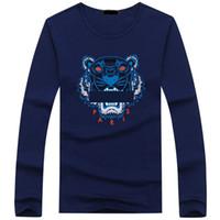 satılık kaplıca kaynağı toptan satış-Sıcak satış pamuk Yeni 2019 Erkek Tees Artı Boyutu uzun Kollu t gömlek 7 Baskılı Pamuk T-shirt Erkekler Tasarımcı bahar güz Asya boyutu