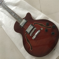 Wholesale china hollow guitar shop resale online - Custom shop jazz Hollow Vintage RED Electric Guitar China Guitar