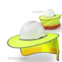 Wholesale hard hat caps for sale - Group buy Bask Workers Reflective Stripe Hard Hat Neck Shield Helmet Sun Shade Cover