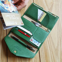 Wholesale credit card organizer purse for sale - Group buy Tripping Wallet Travel Passport Holder Credit ID Card Cash Ticket Coupons Purse Case Functional Clutch