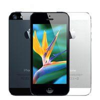 iphone 64gb kilidi toptan satış-Kilitli Orjinal iPhone 5 16GB / 32GB / 64GB ROM Çift çekirdekli 3G 4,0 inç Ekran 8MP Kamera iCloud WIFI GPS IOS işletim Cep telefonları