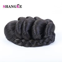 Wholesale braided bun hairpieces resale online - SHANGKE Braided Clip In Hair Bun Women Chignons Ponytail Hairpieces Synthetic Hair Clips In Extensions