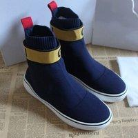 sapatilhas femininas famosas venda por atacado-Meia Sapatos de Grife Nova Velocidade Mens Paris Designer Famoso Sapatilhas carta Branca melhor Qualidade Designer de Alta Sock Shoes Para Mulheres Presente