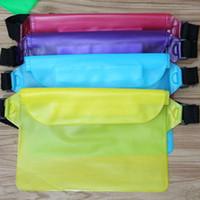 büyük cep telefonları toptan satış-Açık spor bel çantası Büyük kapasiteli spor telefonu waistpacks üç katmanlı mühürlü su geçirmez cep telefonu bel çantası ZZA338