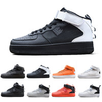 chaussures de sport violettes pour hommes achat en gros de-nike air force 1  one air forces shoes Black High Hommes Femmes Casual Chaussures de sport Utility Utility violet Jaune Gris Ribbon-Pack Sports Skateboarding Baskets Basses 36-45
