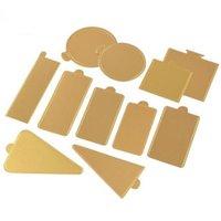 gold papppapier groihandel-Multi Formen erhältlich Gold Mousse Kuchen Karton Basis Pad Cupcake Dessert Kuchen Papierkorb Halter QW9512
