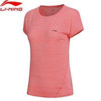 forro de poliéster venta al por mayor-(Rebaja) Mujeres Jogger camiseta EN SECO 100% poliéster Comfort LiNing Regular Fit Sports Running Tee ATSN032 WTS1383