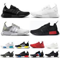 Wholesale summer canvas art resale online - Designer shoes R1 Japan triple white black men running shoes Og cream bred Oreo camo mens trainers women sport sneakers ERU
