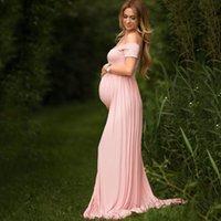 hamile kadınlar sıcak elbiseler toptan satış-Hamile Elbise sıcak toptan Avrupa ve Amerikan kadın dantel Annelik portre elbise bodycon elbise hamile fotoğraf çekmek