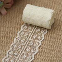 dikiş kumaş malzemesi toptan satış-10 m / grup 4.5 cm Dantel Şerit Dantel Trim Kumaş Rustik Düğün Dekorasyon El Işi Işlemeli Dikiş Elbise Elbise DIY Malzeme