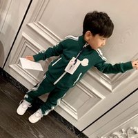 Wholesale boys clothing sets army for sale - Group buy Baby Girls boys Sport Suits Spring autumn Children Long Sleeve Zipper Coat Pant Casual boys Clothing Set Kids Tracksuit