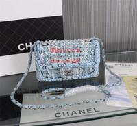 ingrosso borsa intrecciata-Borse di marca borse donna borsa a tracolla borsa a tracolla zaino a tracolla borsa a portafoglio moda catena intrecciata logo in metallo mini zaino a tracolla
