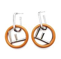 ohrring modelle für frauen groihandel-Frauen Fashion Model Brand Designer Ohrring Retro Buchstabe F Luxus Ohrring Beliebte Berühmte Marke Schmuck Hohe Qualität