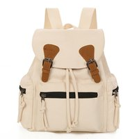 Wholesale boston travel bag resale online - Wild2019 Wind School Rope Cotton Canvas Ma am Backpack Travelling Bag Both Shoulders Woman Package