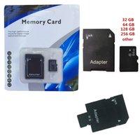 beliebte einzelhandel geschenke großhandel-Schlussverkauf!! populäres 256GB 128GB 64GB 32GB Mikro-Sd TF mit Adapter-Blasen-generischem Kleinpaket gutes Geschenk DHL Y2
