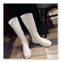 weiße knie hohe stiefel wohnungen groihandel-Fashion ~ 2019091703 40 SCHWARZ / WEISS KALBS ECHT LEDER kniehohe Stiefel WOHNUNGEN