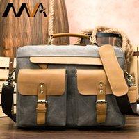 Wholesale clear briefcase resale online - Men s briefcase leather bags messenger bag men canvas business bag handbag men leather briefcase handles cartable homme