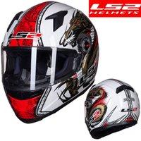 ingrosso ls2 caschi da corsa-Nuovo casco del motociclo arrivo LS2 FF358 pieno facciale LS2 originale casco racing moto caschi cascos para moto casco motociclista