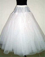 Wholesale quinceanera petticoats resale online - A Line Layers NO Hoop Net Petticoat Underskirt for Wedding Prom Quinceanera Dresses Adjustable Sizes Crinoline