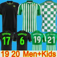 erkek gömlek kontrolleri toptan satış-19 20 erkek çocuklar çocuk GERÇEK Betis futbol formaları CARVALHO LO CELSO BARTRA HULIO JOAQUÍN 2019 2020 futbol forması FEKIR Sınırlı Sayıda kontrol