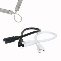douilles t5 achat en gros de-Câble de raccordement de lampe LED T5 / T8 de 9 pi 3M, cordons de liaison de câble de tube intégré à LED pour raccords de douille de support de tube à LED
