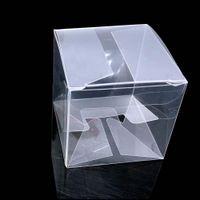 ingrosso scatole di pvc chiare per i regali-50pieces / lot rimuovono Piazza favore di cerimonia nuziale Gift Box in PVC scatole di sacchetti di caramelle partito trasparente cioccolato 5x5x5cm Caja De Dulces