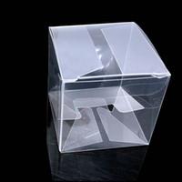 hediye için açık pvc kutuları toptan satış-50pieces / lot Temizle Kare Düğün Favor Hediye Kutusu PVC Şeffaf Parti Şeker Çanta Çikolata Kutuları 5x5x5cm Caja De Dulces
