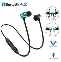mikrofon drahtloser bluetooth kopfhörer großhandel-XT-11 Bluetooth-Kopfhörer Magnetische Kopfhörer Drahtlose Sportkopfhörer Stereo-Bass-Musik-In-Ear-Kopfhörer mit Mikrofon-Lautstärkeregler