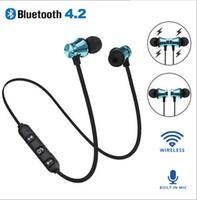 ingrosso controllo del basso delle cuffie-XT-11 Cuffie Bluetooth Magnetic Cuffie Sport auricolari stereo senza fili Bass musica in-Ear Apple con controllo volume microfono