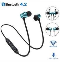 microfone auscultador bluetooth sem fios venda por atacado-Xt-11 fones de ouvido bluetooth fones de ouvido magnéticos esportes sem fio fones de ouvido estéreo baixo música fones de ouvido intra-auriculares com microfone controle de volume