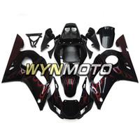 kit de cuerpo de 99 r6 al por mayor-Nuevo Sportbike Negro Rojo Llamas ABS Carrocería de inyección para Yamaha YZF-600 R6 Año 1998 99 00 01 2002 Kit completo de carenado Kit de cuerpo Cubierta