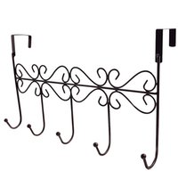 Wholesale fabric working clothes resale online - 1 Pc Over the Door Hook Wrought Iron Nail free Clothes Hanger Towel Hanger Storage Rack for Coat Key Towel Bag
