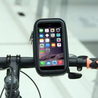 wasserdichter handyhalter für fahrrad großhandel-Fahrradtasche für Handy Fahrradkoffer Wasserdichte Fahrradhalterung Fall Lenkerhalter Fahrradabdeckung Fahrradzubehör