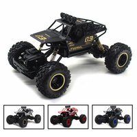 Wholesale rock toys resale online - 4WD Electric RC Car Rock Crawler Remote Control Toy Cars on The Radio Controlled x4 Drive Off Road Toys for Boys Kids Gift